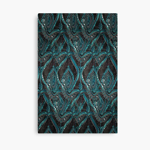 aBlack and turquise pattern Canvas Print