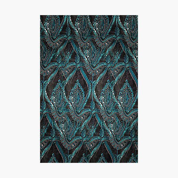 aBlack and turquise pattern Photographic Print