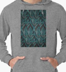 Black and turquise pattern Lightweight Hoodie