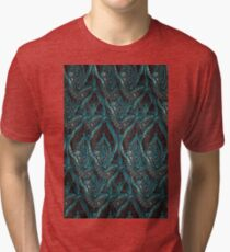 Black and turquise pattern Tri-blend T-Shirt