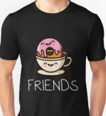 Donuts And Coffee Cute Best Friend Shirts For Women Unisex T-Shirt