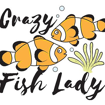 Crazy Fish lady with Clown fish and anemones  by jazzydevil