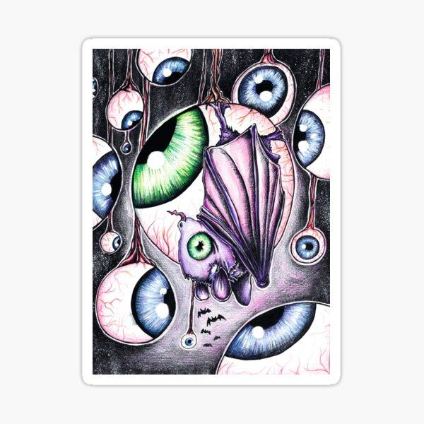 Eyeball party, absurd art Sticker