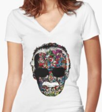 Stan Lee - Man of many faces Women's Fitted V-Neck T-Shirt