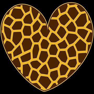 Giraffe Heart Graphic for Giraffe Lovers & Nature Fans by xsylx
