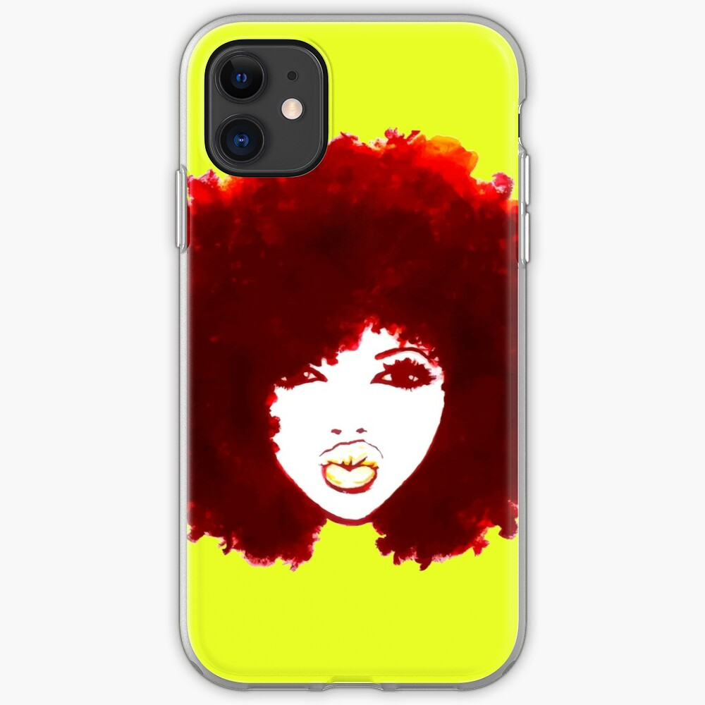 Autumn Afro Natural Hair Curly Hair Pretty Girl iPhone Case & Cover