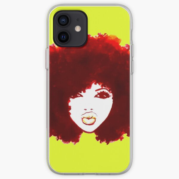 Autumn Afro Natural Hair Curly Hair Pretty Girl iPhone Soft Case