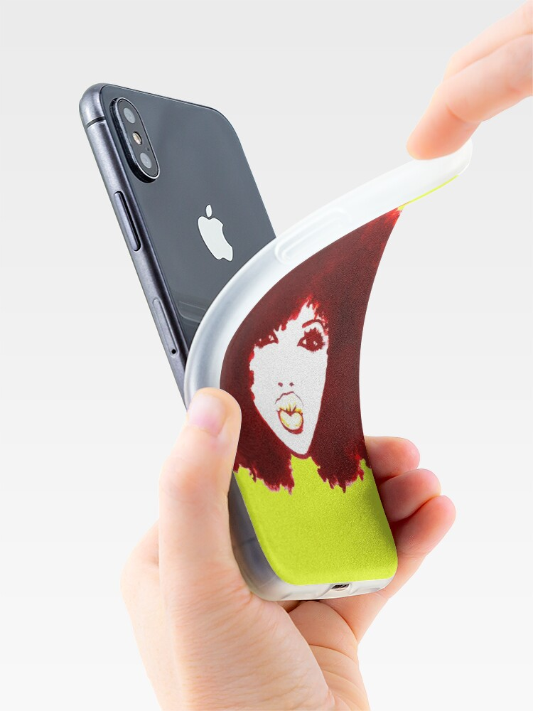 Alternate view of Autumn Afro Natural Hair Curly Hair Pretty Girl iPhone Case & Cover