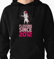Flossing Since 2012 Unicorn gift Pullover Hoodie