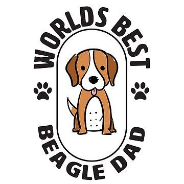Beagle Dog Dad Design - Worlds Best Beagle Dad by kudostees