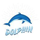 Dolphin dolphin whale mammal favorite animal sea creatures fish intelligence gift by ArtOfCopenhagen