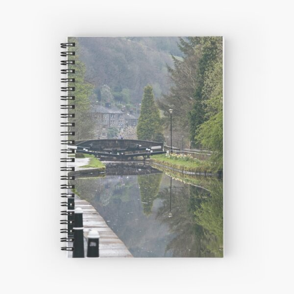Canalside Reflections Spiral Notebook