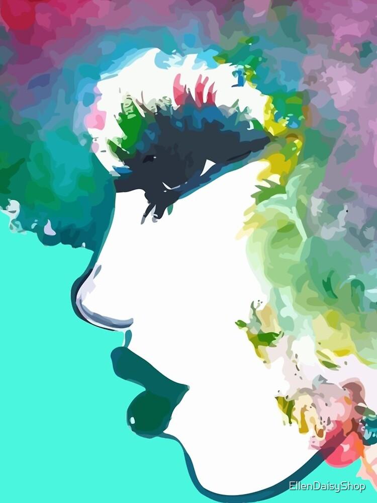 I Fall In Love With The Hair I'm Born With Rainbow hair Natural hair tees  by EllenDaisyShop