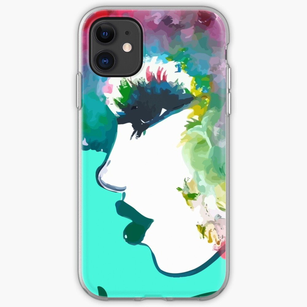 I Fall In Love With The Hair I'm Born With Rainbow hair Natural hair tees  iPhone Case & Cover