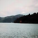 Floating Gate over Lake Ashi - Hakone, Japan by IkuTree