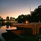 Hiroshima Peace Memorial Park at Night - Hiroshima, Japan by IkuTree