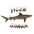 Tiger shark tiger shark Dangerous shark ocean predator favorite animal gift by ArtOfCopenhagen