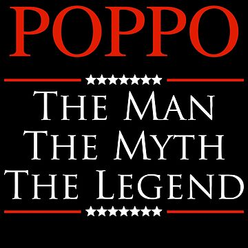 ­­­Poppo The Man The Myth The Legend Gift For Grandpa by BBPDesigns