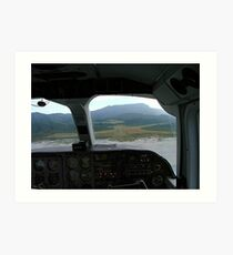 View from the cockpit - Great Barrier Island..........! Art Print