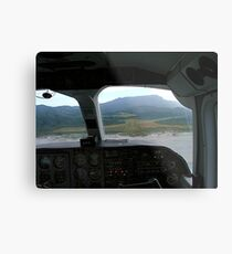 View from the cockpit - Great Barrier Island..........! Metal Print