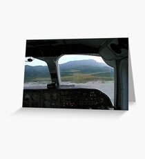 View from the cockpit - Great Barrier Island..........! Greeting Card