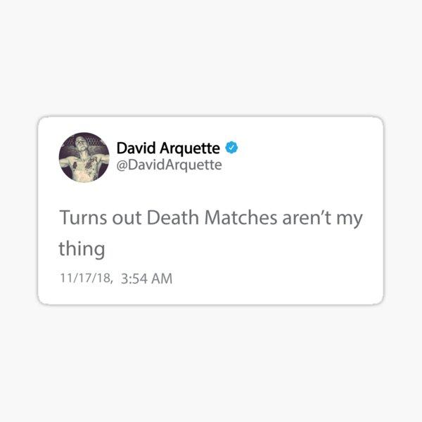 David Arquette Deathmatch Tweet Sticker