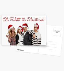 Schitt's Creek Christmas cards, Funny Xmas cards, Meme greeting cards, Schitt's Creek mugs, Schitt's Creek stickers Postcards