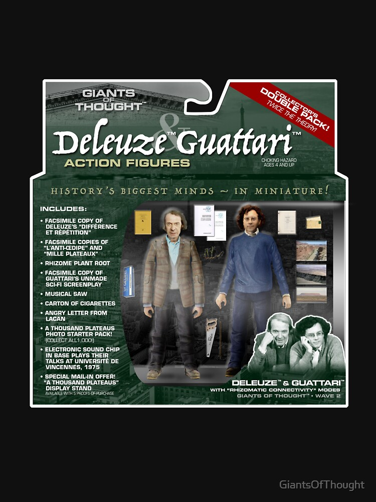 Deleuze & Guattari Action Figure 2-Pack by GiantsOfThought