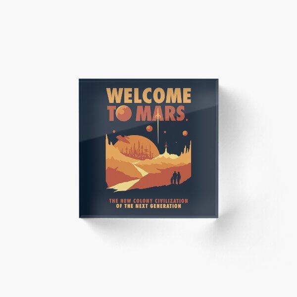 Welcome to Mars Acrylic Block