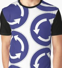 Roundabout Sign Graphic T-Shirt