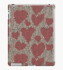 Knitted canvas with a festive pattern ornament. iPad Case/Skin