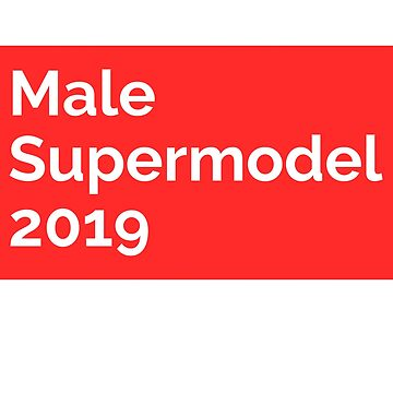 Male supermodel T shirt for men  by tengamerx