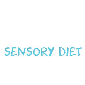 Sensory Processing Diet Funny SPD T-Shirt by noirty