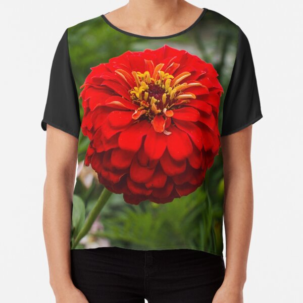 Zinnia flower Chiffon Top