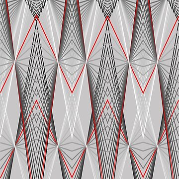 Graphic with triangles in white, red to black. by robelf