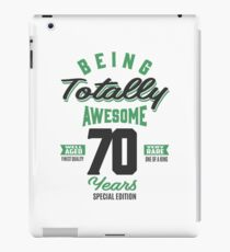 Vinilo o funda para iPad Impresionante 70 años
