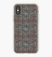 Knitted canvas with a festive pattern ornament. iPhone Case