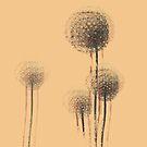 Vintage Summer Flower Trees by Van Nhan Ngo