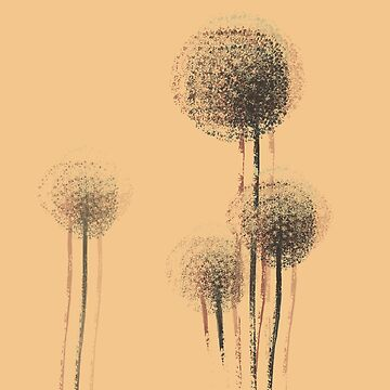 Vintage Summer Flower Trees by enhan