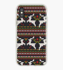 christmas sweater print iPhone Case