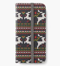 christmas sweater print iPhone Wallet/Case/Skin