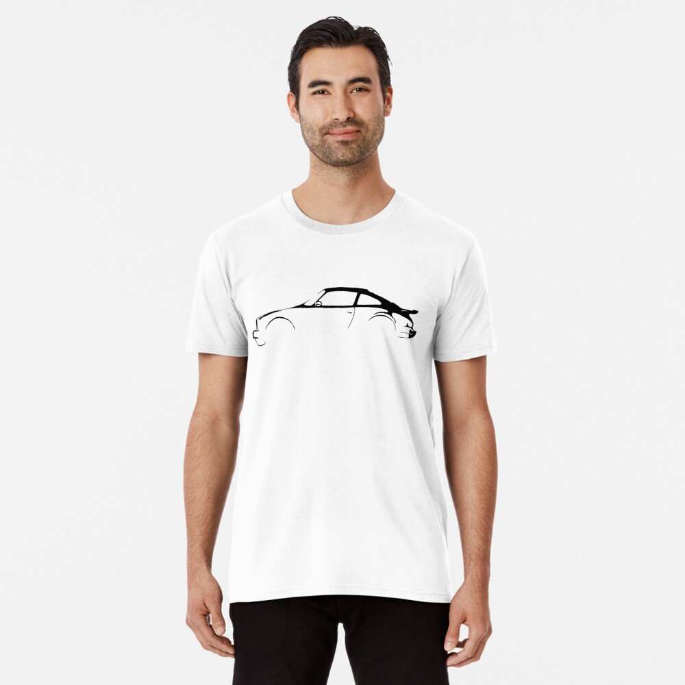 Porsche 911 Silhouette  Men's Premium T-Shirt Front