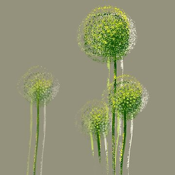 Modern Abstract Spring Flower Trees by enhan
