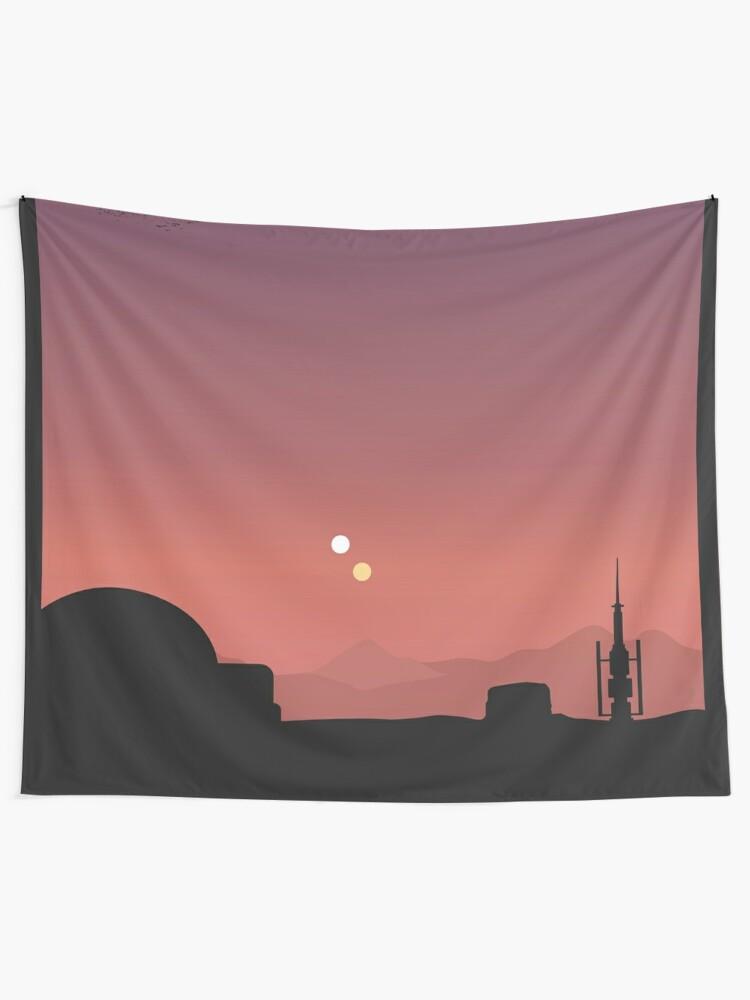 Alternate view of Purple Land Tapestry