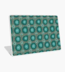 Knitted canvas with a festive pattern ornament. Laptop Skin