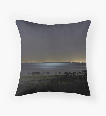 Williamstown back beach Throw Pillow