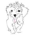 Foxy dog named Puff by Kalliopi Karvela