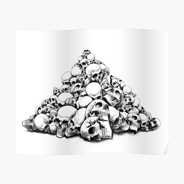 pile of skulls Poster