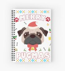 Pug Ugly Christmas Sweater Merry Pugmas Funny Dog Lover Spiral Notebook