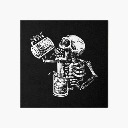 Drunk skull Art Board Print